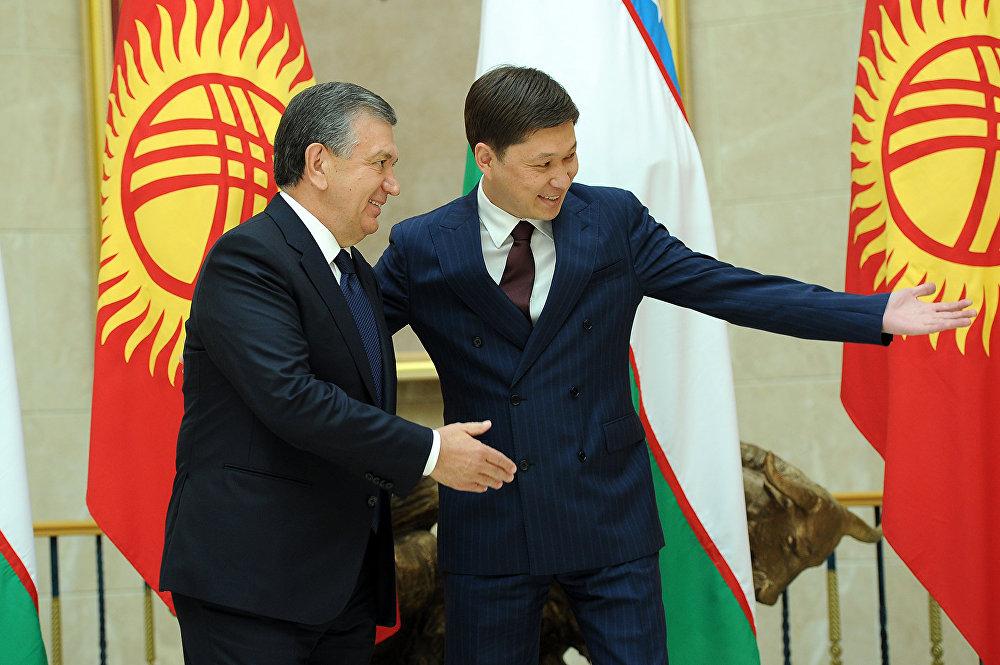 Глава правительства встречает зарубежных гостей. С президентом Узбекистана Шавкатом Мирзиёевым 6 сентября