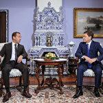 Премьер нанес официальный визит в Россию в конце сентября. Встреча с российским коллегой Дмитрием Медведевым