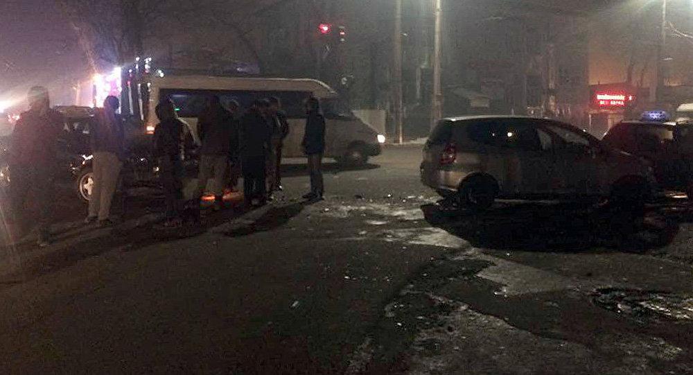 Бишкекте төрт машина кагышты