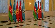 Флаги тюркоязычных государств (Тюркского Совета). Архивное фото