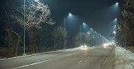 Наружное освещение установленные по улице Шабдан Баатыра. Архивное фото