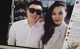 Активист Ренат Самудинов и его супруга, журналистка Эльнура Молдокадырова. Фото со страницы Facebook Эльнуры Молдокадыровой