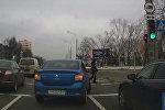 Водитель предотвратил наезд на пешехода — видео