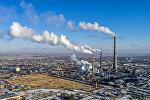 Вид на Бишкекский теплоэлектроцентраль, снятый с помощью дрона. Архивное фото