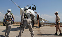 Российские летчики на авиабазе Хмеймим в Сирии. Архивное фото
