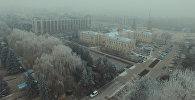 Словно в сказке! Посмотрите, как изморозь украсила Бишкек