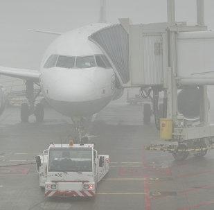 Аэропортто туман. Архивдик сүрөт