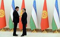Президент Кыргызстана Сооронбай Жээнбеков на встрече с главой Узбекистана Шавкатом Мирзиёевым в рамках официального визита