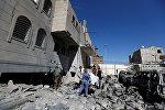 Последствия авиаударов в столице Йемена Сане. 13 декабря 2017 года