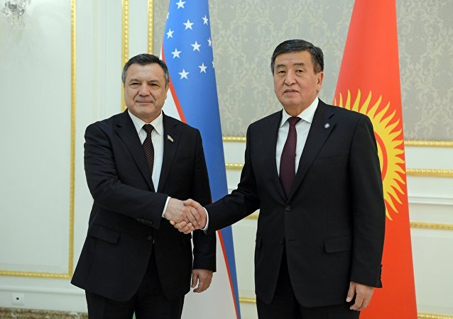 Президент Кыргызстана Сооронбай Жээнбеков на встрече со спикером Олий Мажлиса Республики Узбекистан Нурдинжоном Исмоиловым в рамках официального визита в РУз
