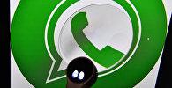 Иконка мессенджера WhatsApp на экране компьютера. Архивное фото