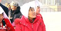 Бишкектин Ала-Тоосун көрүп таң калган памирлик кыргыздардын видеосу