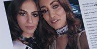 Снимок с instagram пользователя sarahidan. Участница конкурса Мисс вселенная 2017 из Ирака Сара Идан и мисс Израиля Адар Гандельсман