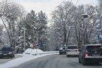 Бишкектеги кар. Архивдик сүрөт