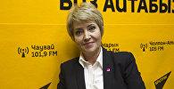 Кандидат медицинских наук Татьяна Дементьева во время интервью на радиостудии Sputnik Кыргызстан