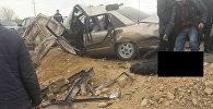 Ысык-Көлдүн Корумду айылында эки унаа кагышып 6 адам жабыркады