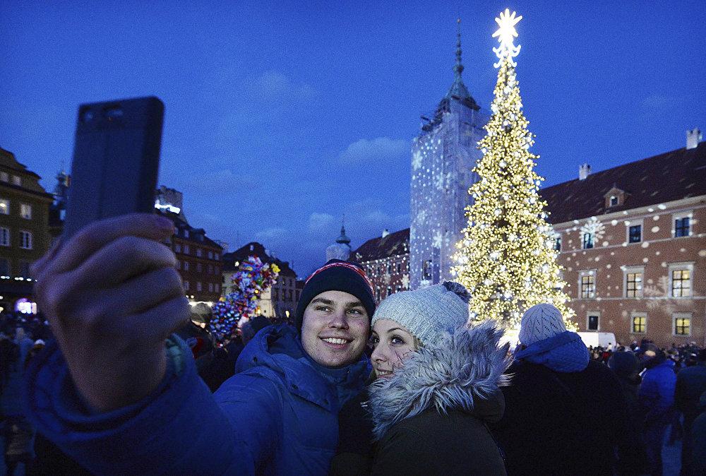 Рождественская елка в Варшаве
