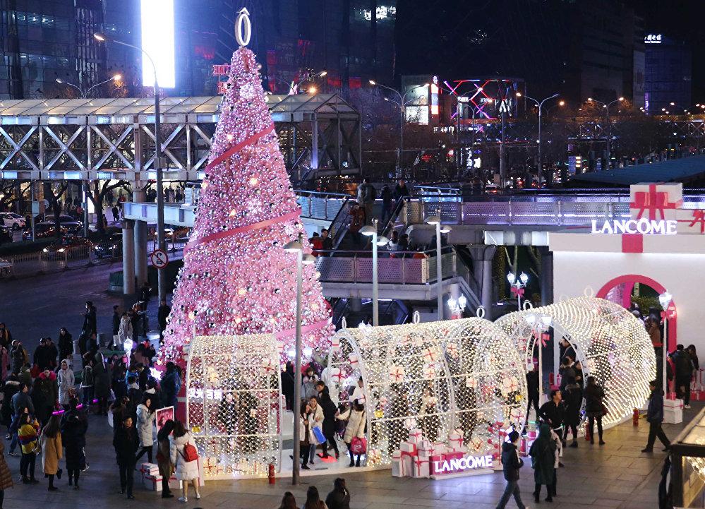 Рождественская елка в Пекине