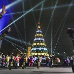 Главная новогодняя елка в Бишкеке