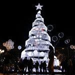 Новогодняя иллюминация в Афинах
