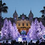 Рождественское оформление казино Монте-Карло в Монако