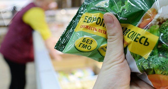 Товары без ГМО в одном из магазинов. Архивное фото
