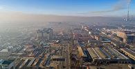 Смог над микрорайоном Тунгуч в Бишкеке. Архивное фото