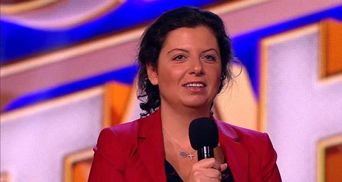 Главный редактор агентства Маргарита Симоньян вручила призы во время финала шоу
