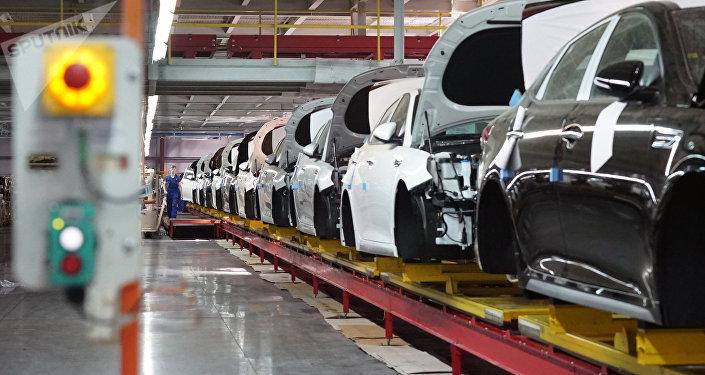 Линия сборки автомобилей Hyundai и KIA. Архивное фото