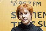 Призер чемпионата Молдовы по фитнес-бикини тренер Екатерина Хроми-Жульен на радиостудии Sputnik Молдова