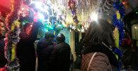 Новогоднее оформление общественного транспорта в Бишкеке