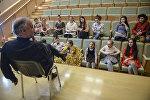 Художественный руководитель Мариинского театра и всемирно известный дирижер Валерий Гергиев на встрече с участниками проекта Ты супер! Танцы