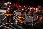 Пожар в жилом доме в Нью-Йорке