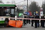 Москва шаарынын түндүк батышындагы Сходненская метростанциясында автобус элди коюп кетти