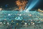 Восхитительно! Грандиозный салют на площади Ала-Тоо — аэросъемка