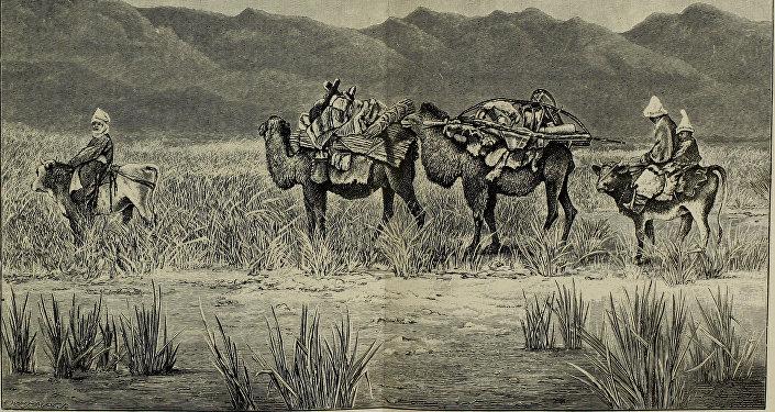 Кадры британского путешественника и писателя Генри Лансдейл в Туркестане