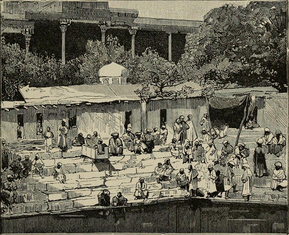 Бухара шаарынын ошол кездеги эң бир кооз деп эсептелген аймагы Ляби-Хауз көлмөсү