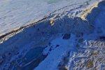 На границе Китая и России появилась ледяная стена высотой 20 метров