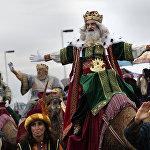 Барселонада Рождество майрамына арналган Үч падышанын жүрүшү аталышындагы салттуу фестиваль болуп өттү