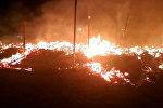 Сгорел ресторан на Иссык-Куле, очевидцы утверждают, что был взрыв