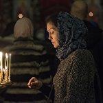 Бишкектин чиркөөсүндө Рождествого арналган жөрөлгө