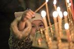 Праздничное богослужение кафедральном соборе Бишкека. Архивное фото