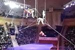 В Беларуси гимнастка сорвалась с высоты в цирке