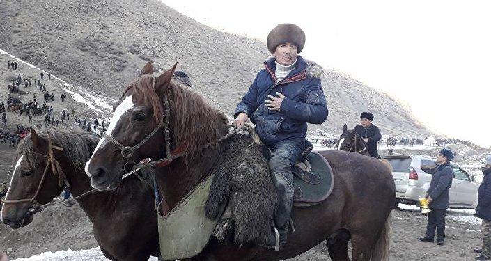 Аламан улак-тартыш в селе Кара-Таш Ноокатского района