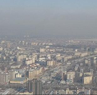 Видео, вызывающее возмущение, — бишкекчане сняли смог над городом