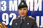 Ош облустук милициянын маалымат катчысы Жанна Сатарбаева