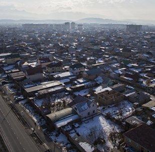 Вид на новостройки Бишкека с высоты птичьего полета