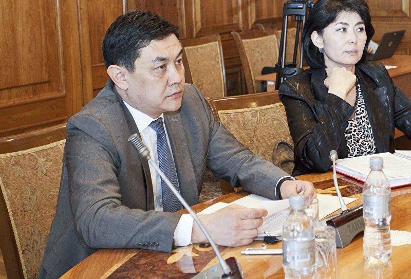 Председатель Государственной службы регулирования и надзора за финансовым рынком при Правительстве Кыргызской Республики Санжар Муканбетов