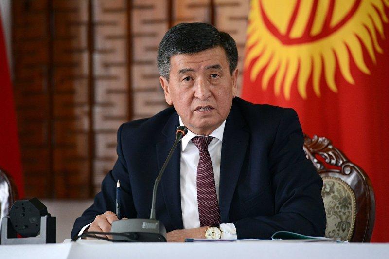 Президент Кыргызской Республики Сооронбай Жээнбеков во время рабочей поездки в Жумгальский и Кочкорский районы Нарынской области, где встретился с жителями районов.  10 января 2018 года