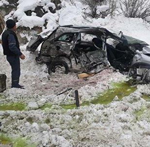 Состояние авто марки Opel Zafira после столкновения с бензовозом